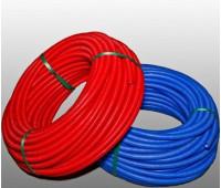 Канализационная труба двустенная красная (синяя) 63мм 100м