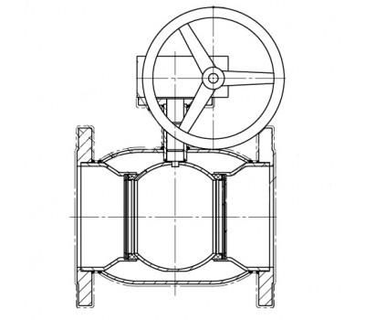 Кран шаровой BREEZE 11с332п фланец 125/100 (PN25) с ред.