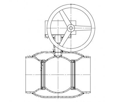 Кран шаровой BREEZE 11с331п прив. 125/100 (PN25) с ред.