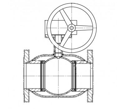 Кран шаровой BREEZE 11с338п фланец 150/150 (PN25) с ред.