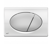 Кнопка смыва AlcaPlast M73 хром - глянцевая/матовая