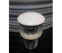 Белый матовый керамический донный клапан Gid Whm100