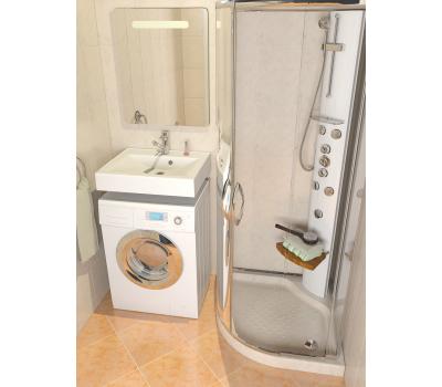 Раковина над стиральной машиной Elita 600*500(ALTASAN) в комплекте с кронштейнами и сливной системой (UPP60)