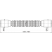 Alca Plast A710 Гибкое соединение 40×40