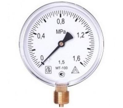 Манометр МТ 100М 1,0МПа (метрическая резьба - М20х1.5)