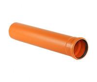 Труба наружная НПВХ 200х2м (4,9 мм)