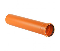 Труба наружная НПВХ 110х1м (3,2 мм)